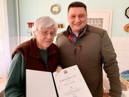 Drávicz Józsefné 90. születésnapi köszöntés